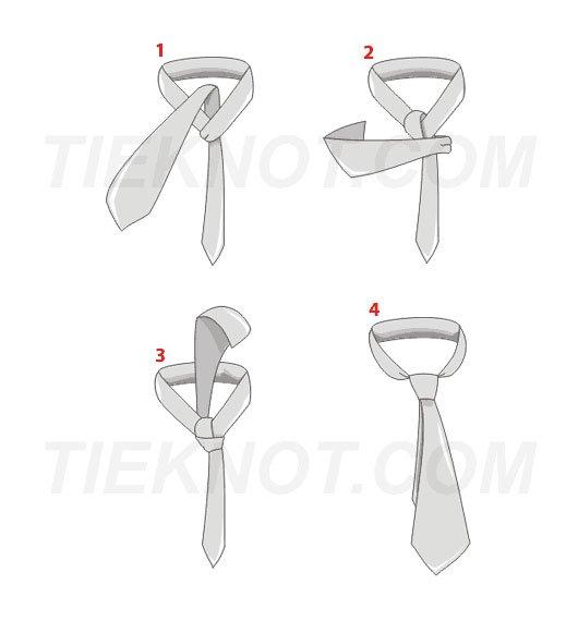 Windsor half tie knot