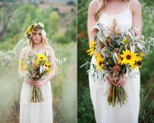 Wedding sunflower bouquet – beautiful flower arrangements