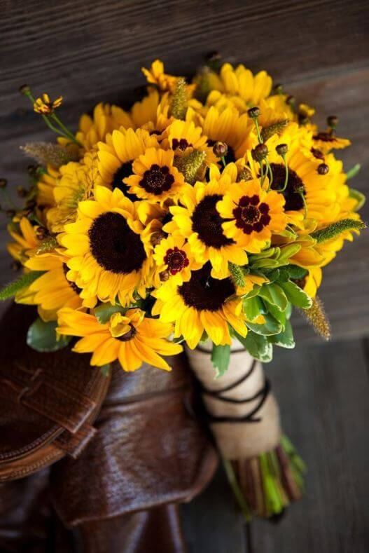 Bouquet of sunflowers and yellow beauties