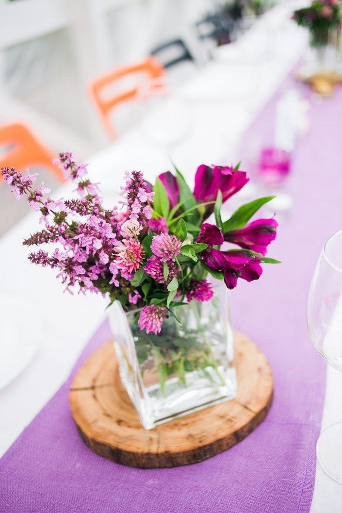 Flower on wedding table