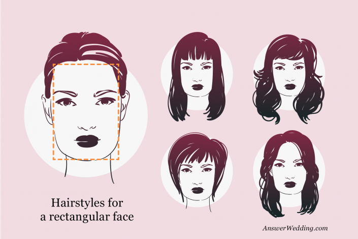 Hairstyles for a rectangular face