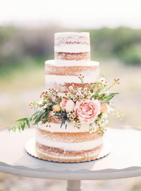 Naked cake three layers