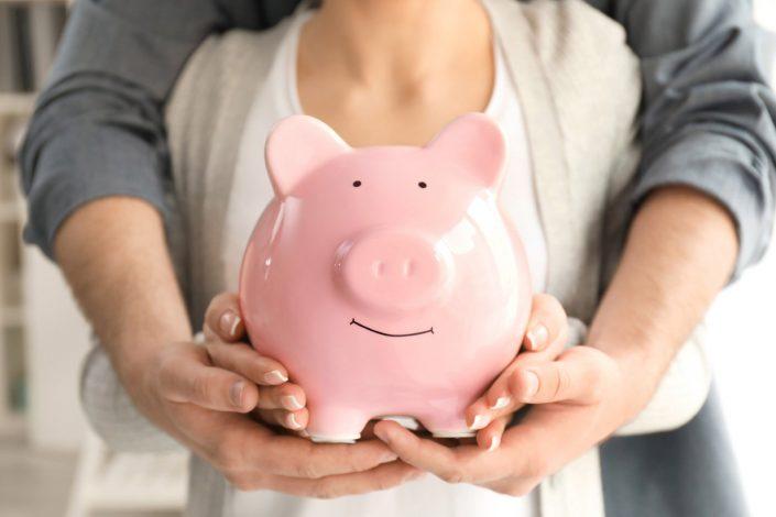 Piggy bank wedding gift