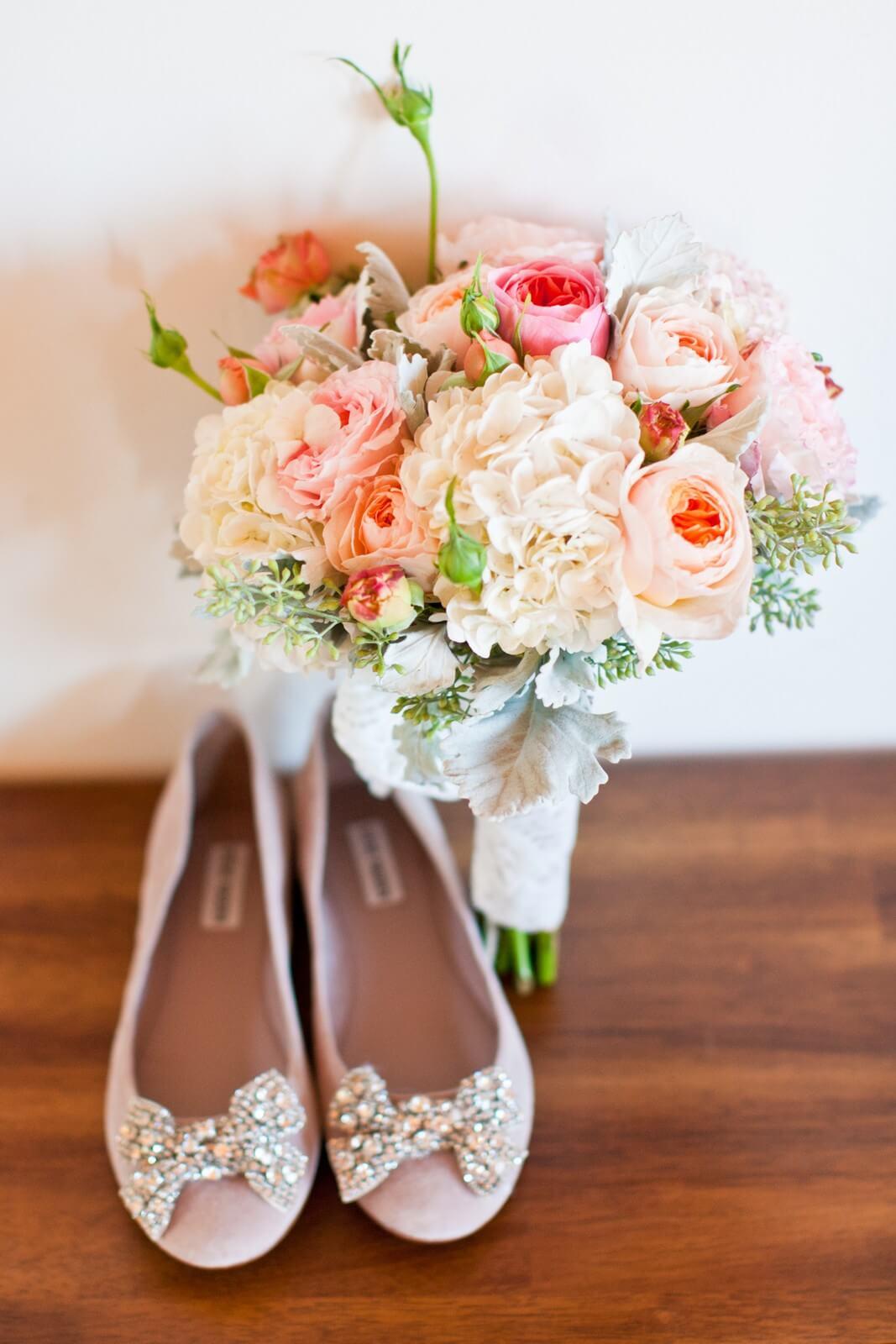 Pink wedding ballerinas