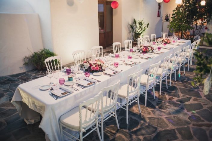 Planning the seating of quests at the wedding