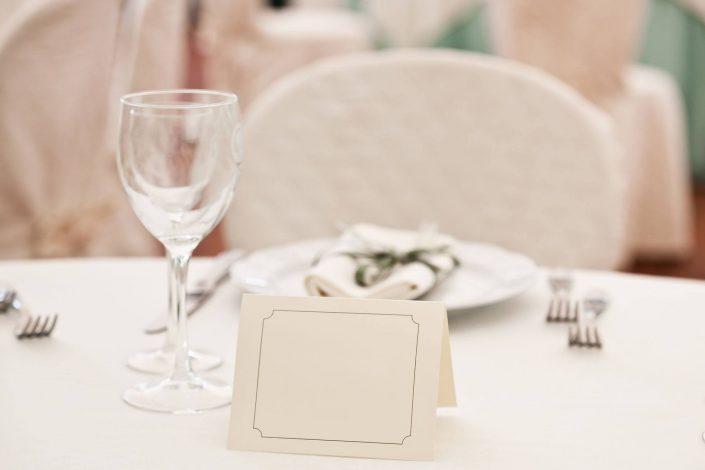 Wedding charts on table