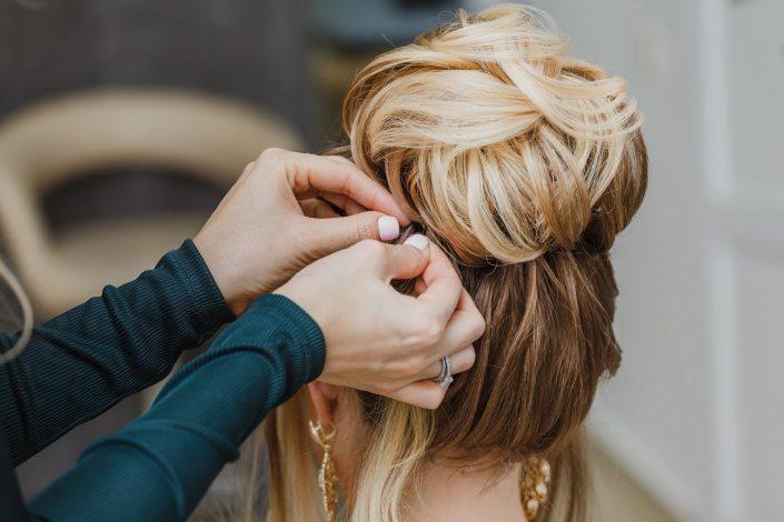 Wedding hairstyle test