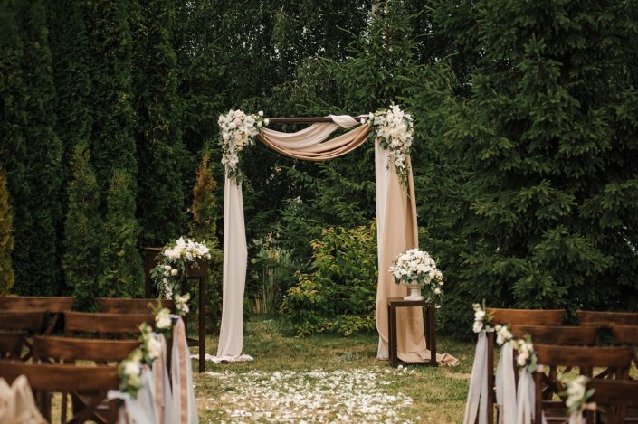 wedding ceremony in the forest