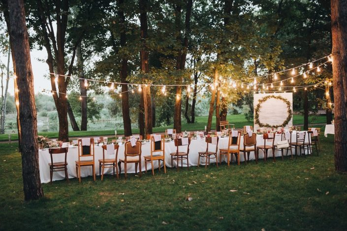 wedding hostess in the forest